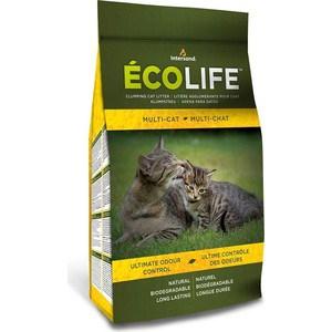 Наполнитель Intersand EcoLife Multi-Cat Clumping Cat Litter комкующийся без ароматизатора биоразлагаемый для кошек 4,54кг (Л 26446) ZIP