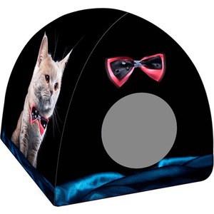Домик PerseiLine Дизайн Вигвам Кот с бабочкой для кошек 40*40*39 см (31147/ДМД-3) домик perseiline кошка для кошек 38 40 40 см 00025 дмс 4