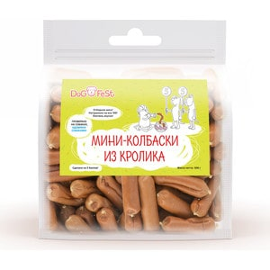Лакомство Dog Fest Мини-колбаски из кролика для собак 500г fest cvr10k4