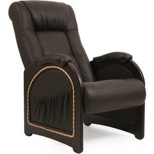 Кресло для отдыха Мебель Импэкс МИ Модель 43 венге, обивка Dundi 108 кровать раскладная мебель импэкс лаура