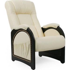 Кресло для отдыха Мебель Импэкс МИ Модель 43 венге, обивка Dundi 112 кресло мебель импэкс ми модель 11 венге каркас венге обивка dundi 112