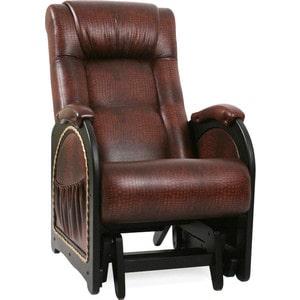 Кресло-качалка глайдер Мебель Импэкс МИ Модель 48 венге с лозой, обивка Antik crocodile кресло качалка мебель импэкс ми модель 5 каркас венге с лозой обивка malta 15а