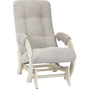 Кресло-качалка глайдер Мебель Импэкс Комфорт Модель 68 дуб шампань, Verona Light Grey