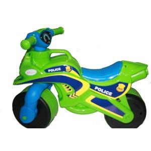 Байк без музыки DOLONI Полиция зеленый/голубой (0138/520)