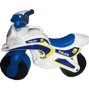 Байк без музыки DOLONI Полиция белый/синий (0138/510)