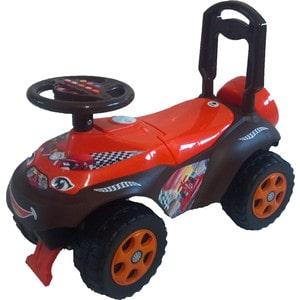 Машинка для катания DOLONI Автошка с музыкальным рулем коричневый/красный (0118/01) 013117 01к каталка толокар автошка с музыкальным рулем зелено оранжевая винкс 5559