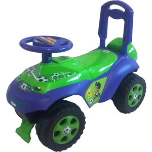 Машинка для катания DOLONI Автошка с музыкальным рулем зеленый/синий (0118/02) машинка для катания doloni автошка с музыкальным рулем голубой зеленый 0118 06