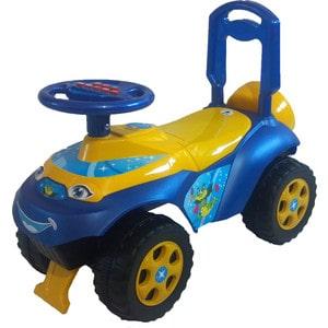 Машинка для катания DOLONI Автошка с музыкальным рулем желтый/синий (0118/04) машинка для катания doloni автошка с музыкальным рулем голубой зеленый 0118 06