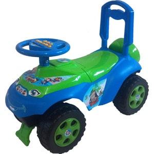 Машинка для катания DOLONI Автошка с музыкальным рулем голубой/зеленый (0118/06)
