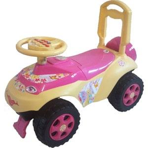 Машинка для катания DOLONI Автошка с музыкальным рулем розовый/бежевый (0118/07)