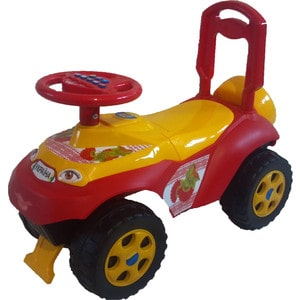 Машинка для катания DOLONI Автошка с музыкальным рулем красный (0118/05)