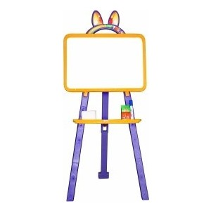 Мольберт для рисования DOLONI магнитный желто -фиолетовый ( 013777/05)