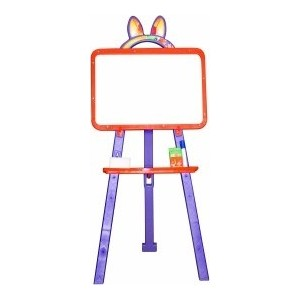 Мольберт для рисования DOLONI магнитный оранжево -фиолетовый ( 013777/06)