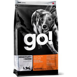 Сухой корм GO! Dog SENSITIVITY+SHINE Salmon Recipe с лососем для щенков и собак с чувствительным пищеварением 11,35кг (10091) фурминатор для собак короткошерстных пород furminator short hair large dog