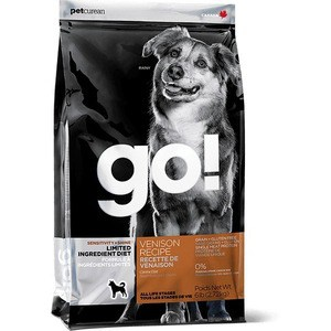 Фотография товара сухой корм GO! Dog LIMITED INGREDIENT DIET Grain+Gluten Free Venison Recipe беззерновой, без глютена с олениной для взрослых собак 2,72кг (330) (695628)