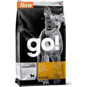 Сухой корм GO! Dog LIMITED INGREDIENT DIET Grain+Gluten Free Duck Recipe беззерновой, без глютена с уткой для взрослых собак 2,72кг (10351) корм go fit free grain free dog recipe turkey chicken trout duck 2 72 кг