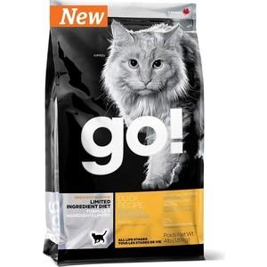 Сухой корм GO! Cat LIMITED INGREDIENT DIET Grain+Gluten Free Duck Recipe беззерновой, без глютена с уткой для кошек 1,82кг (20330)