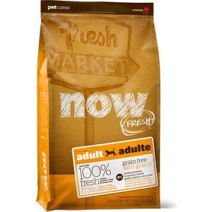 Сухой корм NOW FRESH Dog Adult Grain Free Turkey, Salmon & Duck беззерновой с индейкой, лососем, уткой и овощами для собак 5,45кг (10122) now grain free