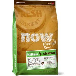 Сухой корм NOW FRESH Kitten Grain Free Turkey, Salmon & Duck беззерновой с индейкой, лососем, уткой и овощами для котят 1,82кг (20039) цена