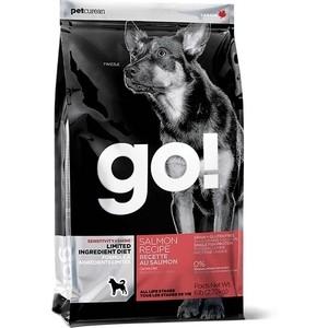 Сухой корм GO! Dog LIMITED INGREDIENT DIET Grain+Gluten Free Salmon Recipe беззерновой,без глютена с лососем для взрослых собак 11,35кг (10355) корм go fit free grain free dog recipe turkey chicken trout duck 2 72 кг