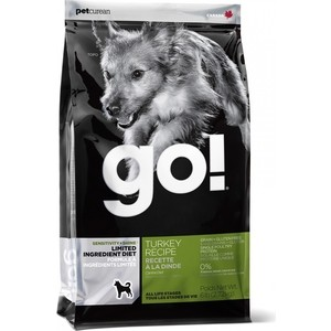 Сухой корм GO! Dog LIMITED INGREDIENT DIET Grain+Gluten Free Turkey Recipe беззерновой,без глютена с индейкой для взрослых собак 11,35кг (3846) gy6 blade style adjustable motorcycle brake clutch lever for honda silvery white black 2 pcs