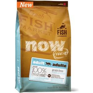 Сухой корм NOW FRESH Cat Adult Grain Free Trout,Salmon & Herring беззерновой с форелью,лососем и сельдью для кошек с чувствительным ЖКТ 1,82кг (9235) now grain free