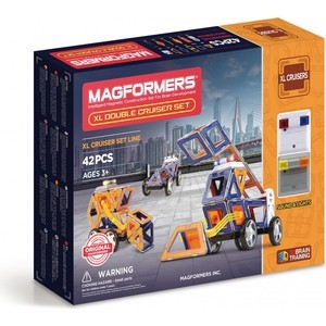 Магнитный конструктор Magformers XL Double Cruiser Set 42 (706004) конструкторы magformers магнитный xl double cruiser set 42