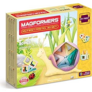 Магнитный конструктор Magformers My First Pastel Set 30 (702013) my first animals