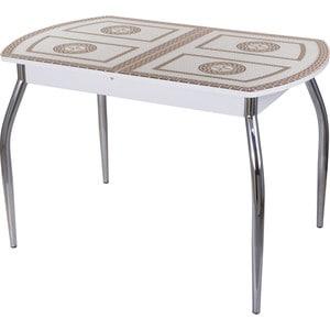 Стол со стеклом Домотека Гамма ПО (-1 БЛ ст-71 01) стол с ящиками витра 19 71