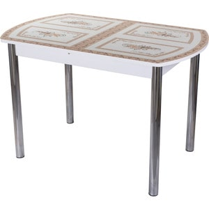 Стол со стеклом Домотека Гамма ПО (-1 БЛ ст-72 02)