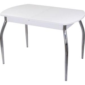 Стол со стеклом Домотека Гамма ПО (-1 БЛ ст-БЛ 01)
