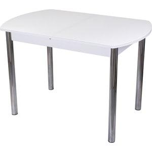 Стол со стеклом Домотека Гамма ПО (-1 БЛ ст-БЛ 02)