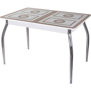 Стол со стеклом Домотека Гамма ПР (БЛ ст-71 01) стол с ящиками витра 19 71