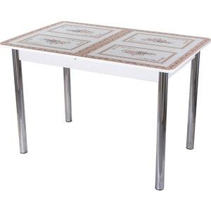 Стол со стеклом Домотека Гамма ПР (БЛ ст-72 02)