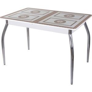 Стол со стеклом Домотека Гамма ПР (-1 БЛ ст-71 01) стол с ящиками витра 19 71