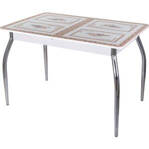 Стол со стеклом Домотека Гамма ПР (-1 БЛ ст-72 01) premium гель пилинг gliko activ 50