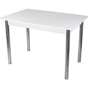Стол со стеклом Домотека Гамма ПР (-1 БЛ ст-БЛ 02) tyumen battery 6 ст 60 пр