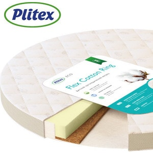 Матрас детский Plitex Flex Cotton Ring 640x640x90 мм (MPFCR-0726 ФК-02/1)