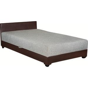 Кровать Стоффмебель (ЛМФ) Атландида-120 темно-коричневый