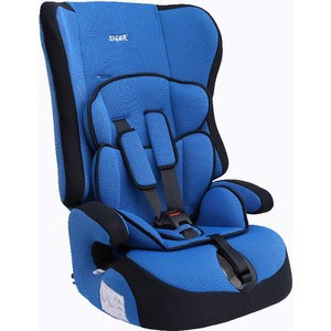 Автокресло Siger Прайм синий, 1-12 лет, 9-36 кг, группа 1/2/3 автокресло смешарики группа 0 1 синий голубой