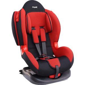 Автокресло Siger Кокон ISOFIX красный, 1-7 лет, 9-25 кг, группа 1/2 блин крашенный черный d30мм bhpl101 d30 1 25 1 25 кг