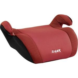 Автокресло Siger Мякиш Плюс красный, 6-12 лет, 22-36 кг, группа 3 автокресло siger бустер серый 6 12 лет 22 36 кг группа 3