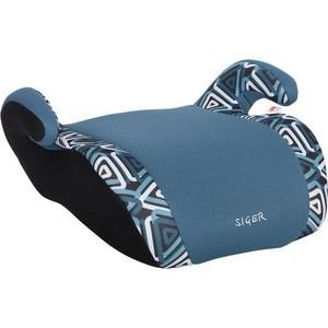 Автокресло Siger ART Мякиш плюс геометрия, 6-12 лет, 22-36 кг, группа 3 chic vivid big leaves pattern chiffon scarf for women