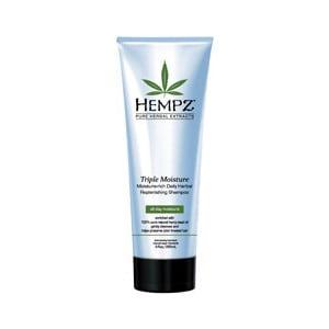 Шампунь HEMPZ Triple Moisture Replenishing Shampoo Тройное увлажнение 265 мл (120-2412-03) hempz гель для душа тройное увлажнение triple moisture herbal body wash 250 мл