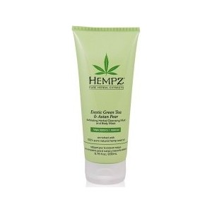 Маска HEMPZ Exotic Green Tea & Asian PearExfoliating Cleansing Mud&Mask глина отшелушивающая 200 мл (676280022669) green tea polyphenols facial cleansing sponge