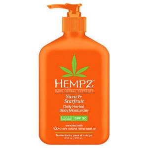 Молочко HEMPZ Daily Herbal Body Moisturizer SPF 30 солнцезащитное увлажняющее для тела Юдзу и Карамбола SPF 30 250 мл (110-2264-03) women split leather tote shoulder handbag cross body bag shopper cabas casual daily purse fashion stylish hobo satchel lady