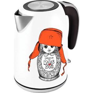 Фотография товара чайник электрический Polaris PWK 1815CA белый/рисунок (698499)