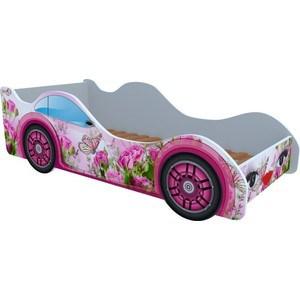 Кровать Кроватки машинки Бабочка в розах