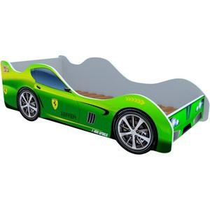 Кровать машинки Феррари зеленая
