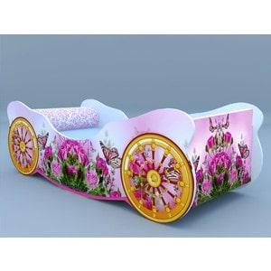 Кровать-карета машинки Розы с бабочкой